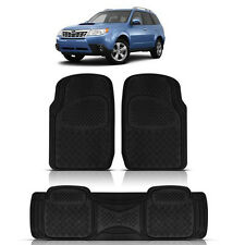 3PC FORESTER DUTY ACK RUBBER FLOOR MATS for SUBARU TIBECA