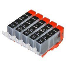 5 CANON Druckerpatronen mit Chip CLI-521 bk black IP 3600 IP 4600 IP 4700 NEU