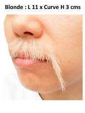 Human Hair Lace Net Blonde Black Graying Mustache Whiskers Chin Beard Face Wig