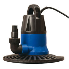 Blue 1,250-Gallon Clog Resistant Plug-In Swimming Pool Cover Pumps and Drains