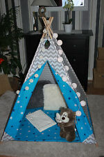 kids childrens hand made teepee tipi wigwam tent with mat