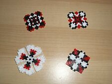 HANDMADE MINI HAMA BEADS FRIDGE MAGNETS CHIC & SHABBY DESIGN X 4 - SET 2