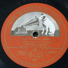 "78rpm 12""  FERNAND ANSSEAU ah leve toi soleil , single side [ romeo & juliet"
