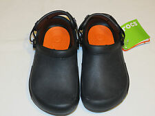 Crocs Mens Womens Bistro Pro Clog black roomy fit M5 W7 mule 15010-001-160 NEW