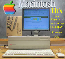  MUST SEE 1992 Apple Macintosh Mac IIFX with Ethernet, SCSI2SD, new Capacitors