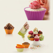 5PCS Silicone Cupcake Cup Muffin Mould Chocolate Tea Cup  Baking Cake Topper A