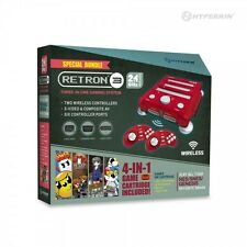 SNES/ Genesis/ NES RetroN 3 Gaming Console 2.4 GHz Edition Game Bundle (Red)