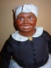 """19"""" Porcelain Mammy Franklin Mint Gone With The Wind Doll Beautiful Condition!"""