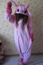 Adult Animal Kigurumi Pajamas Costume Cosplay pyjamas Blue Stitch angel lilo·