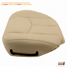 2003 2004 2005 2006 Chevy Tahoe LT & Z71 Driver Bottom Leather Seat Cover Tan