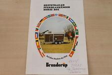 162568) Brenderup Pferdeanhänger Prospekt 10/1986