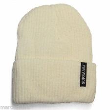 SUPRA Presidio Beanie off white1 size fits all Skateboard  Hip Hop Brand New