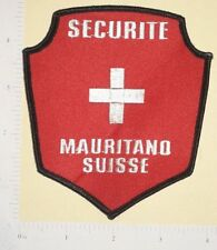 Securite Mauritano Suisse Patch
