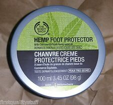 The Body Shop Hand HEMP FOOT PROTECTOR Cream 3.45 oz 100 ml NEW RP $20