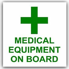 Medical Equipment On Board-Car,Ambulance,External Sticker,Sign,First Aid,Medic