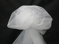 """5 YARDS OF WHITE FABRIC TULLE 54"""" WIDE"""
