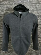 Stone Island 550A3 Lambswool Knit With Raso Floccato Hood BNWT RRP £330 Size L