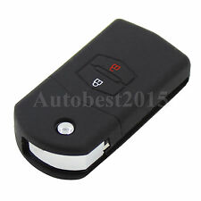 For Mazda 2 Button 3 5 6 Silicone Flip Key Remote Shell Case Cover Holder Black