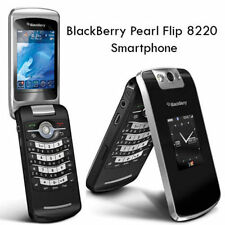 New Unlocked Black BlackBerry Pearl Flip 8220 2.6in. 2mp BlackBerry OS 4.6 phone