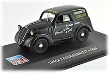 W44 Simca 5 Fourgonnette 1936 1/43 Scale Black New in Display Case