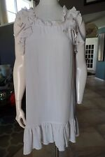 J CREW  100% Silk Ruffled Light Pink Shift Dress XS