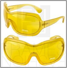PRADA Illusion Oversized Shield PR05OS Nude Yellow GAD-9V1 Sunglasses