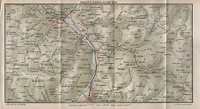 1923 ANTIQUE MAP-SWITZERLAND-RAGATZ-COIRE-KLOSTERS
