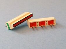 Lot of 5 LED Light Chip Red 3 Segment Bar Graph Display Array Common 6 Pin ROHM