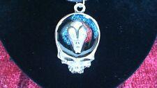 Grateful Dead Alien Skull Pewter Pendant Necklace! New Deadhead Phish