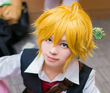 Free Hair Cap+ The Seven Deadly Sins Meliodas Cosplay Wig Costume
