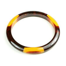BELLE KOGAN Art Deco Armreif, BAKELIT, USA, 3 dot bangle, bakelite