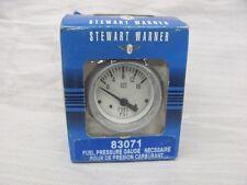 NEW Stewart Warner 83071 Fuel Pressure Gauge BOAT SEAWORTHY Grey Bezel