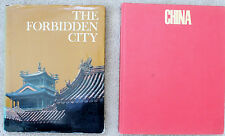2 large print books - The Forbedden CIty + China (art religion history culture)