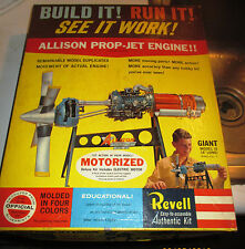 VINTAGE [1961] REVELL MOTORIZED ALLISON PROP-JET ENGINE SEALED PARTS/MINOR ASSEM