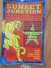 SONIC YOUTH Sleater Kinney Mudhoney Pansy Division Sunset Junction poster '02