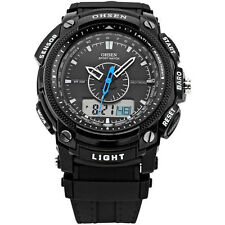 Hot Men's OHSEN Digital LCD Alarm Date Military Sport Rubber Quartz Wrist Watch