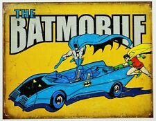 The Batmobile Tin Sign DC Comics Batman and Robin Vintage Style Dark Knight