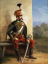 PAINTING MILITARY PORTRAIT STUDY ADAM FRENCH SOLDIER RESTING PRINT POSTER LF664