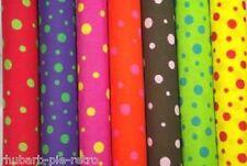 Funky Spotty Polka Dot Dress Fabric PolyCotton per 1m metre Brown Pink Spot