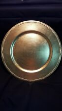 "13"" Gold Beaded Charger Plates - set of 24"