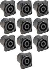 10x Speaker Einbaukupplung, SPKN-4-polig Einbaubuchsen Einbaukupplungen NEU