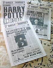 HARRY POTTER 3 PAGES FROM THE  DAILY PROPHET FULL SIZE PAGES