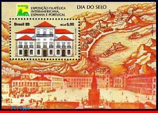 2200 BRAZIL 1989 STAMP DAY, IMPERIAL CASTLE OF RIO, BRASILIANA 89, MI# B79, MNH