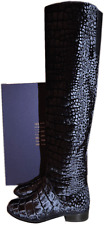 $798 Stuart Weitzman HILO Over the Knee Velvet Boot Thigh High Flat Booties 37