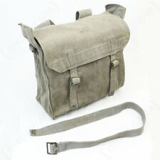 Original BRITISH ARMY 37 PATTERN WW2 SMALL PACK - Grey Canvas Shoulder Strap Bag