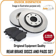 20689 REAR BRAKE DISCS AND PADS FOR VOLVO 480 1.7 TURBO [WITH ABS] 2/1989-5/1995