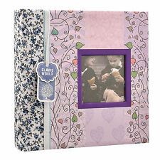 "NEW 6""x4"" Designer Photo Album with Window and 200 Slip In Memo Pockets AL-9769"