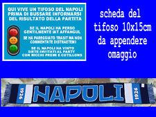 1 sciarpa napoli blu 1926 scarf bufanda calcio