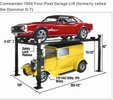 DannMar D-7 4-Post Storage Garage Lift