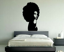 Gift Wall Vinyl Sticker Decals Mural Design Beautiful African Afro Woman #407